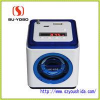 HX-658 blue colour speaker stand with fm radio for travel speaker