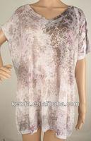 women kimono transparent printed blouses
