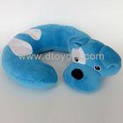 Plush dog toy for baby adult U shape neck pillow