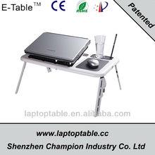 portable ergonomic laptop table with usb fan