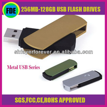 Interface 2.0 FCC approved Super High Quality Cute Metal Swivel USB Flash Drive