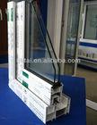 UPVC 80 series sliding windows profiles,pvc extrusion profile,white pvc window profiles with 3 chamber