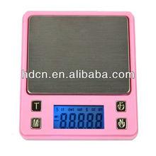 Fascinating pink color design digital pocket scale