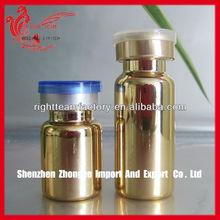 golden serum glass bottle
