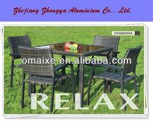 garden PE rattan outdoor furniture dinning series