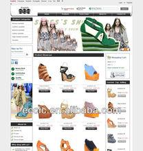 Online shop website design for shoes, professional design online selling websites