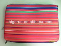 (New Arrival)Neoprene Strip Fashionable laptop Sleeve