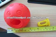 7.3cm Red Cat Feeder Ball Vinyl Ball Toy Dog