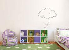 2013 New Fashion Kids Cartoon Cute Cloud Adhesive Vinyl Wall Mural Decals For Children Room