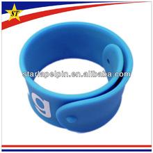 Customized cool funny cheap ruler silicone slap bracelet