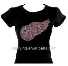 wing rhinestone t-shirt custom