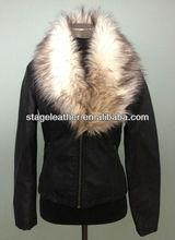 big fur collar coat for women