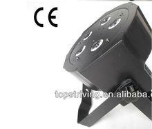 5 *RGBW 4 in 1 LEDs black molded ABS housing rgbw led par light