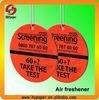 Aromatic air freshener/fragrance air card/paper air fragrance