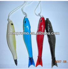 Fish Shaped Lanyard Ballpoint Pen