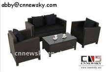 Outdoor Rattan Furniture Economic Knockdown Livingroom Sofa 4pcs Set