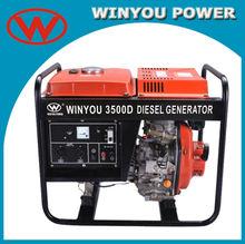 3000 watts air cooled small diesel generator