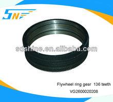 Howo truck flywheel ring gear , 136 teeth flywheel ring gear VG2600020208
