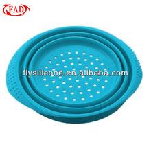 High Quality Kitchen Folding Basket Storage Vegetable Fruit, Blue, Silicone Multifunctional Basket, Kitchen Tool