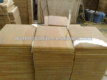 Polished Beige Wooden Sandstone Panel Stone
