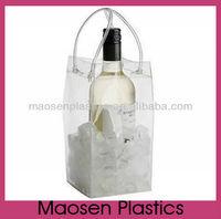 pvc wine bag can put ice,plastic ice bag for wine