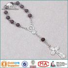 Traditional Maple Wooden Bead Decade Holy Catholic Rosary Bracelet