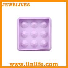 newest diamond shape silicone ice cube tray