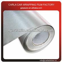 Brushed silver aluminium vinyl rolls sticker auto car decorative wrap film