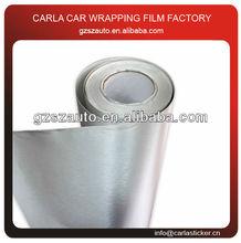 3D pvc film vinyl rolls sticker brushed silver metal foil