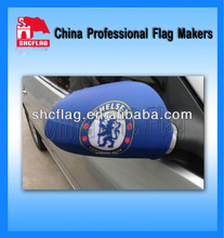 Decorative elastic polyester custom car side mirrors cover