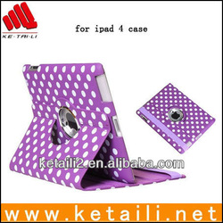 2013 new 360 degree rotating magnetic pu leather cover for ipad (FDA,BV ISO 9001 report )