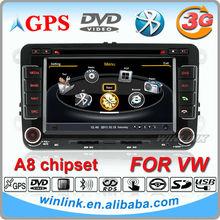 7 inch 2 din touch screen vw passat b6 car radio support 3g internet dvr function
