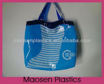 Supply pvc cheap folding shopping bag with printing