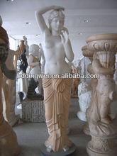 garden stone lady sculpture