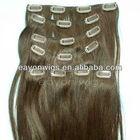 Cheap brazilian hair weave clip in hair extension sets full head