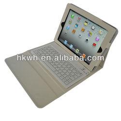 Portfolio Stand Leather Case With Bluetooth Keyboard For ipad/ipad 2/New ipad