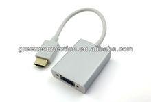 HDMI to VGA converter + 3.5MM Audio + Mirco USB - Aluminum case