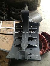 Auto parts HINO/NISSAN/MITSUBISHI/DEAWOO/BENZ/VOLVO/KAMAZ/SCANIA/RENAULT truck brake shoes 474311320