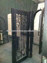 Wrought iron door designs old wood inner doors made in China factory