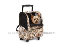 Animal Print Backpack on Wheels in Cheetah,Pet Carrier