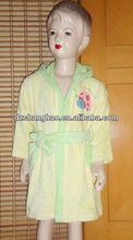 100% algodão terry crianças kimono robe com bordado