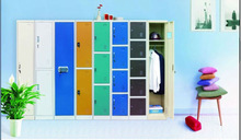 Indian design cheap durable colorful teenage wardrobe furniture for school use