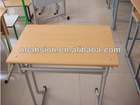 wood and stell school desk