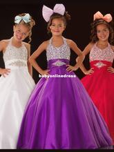2013 Cute Purple Beautiful Sugar Junior Pageant Dress Gown Custom Flower Girl Dresses Size 6.8.10.12.14.16