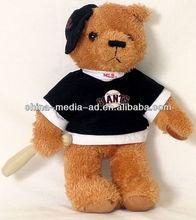 custom stuffed teddy bear with T-shirt