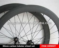 all black wheels 50mm tubular carbon fiber road bicycle wheels