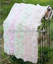 Cuter Acrylic Cotton Crocheted Baby's Throw Blanket