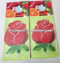 flower shaped paper air freshener