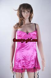 pink sleepwear,fashion sleepwear ,nightwear ,nightgown ,silk robe