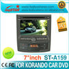 lsqstar car dvd player for ssang yong korando with gps navigation radio pip dual zone 6v cdc dvd mp3 mp4 hot selling!